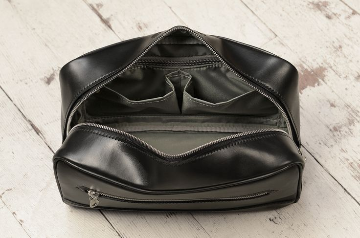 Hand-burnished black leather Briefcase Protector and Rollaboard - resume holder