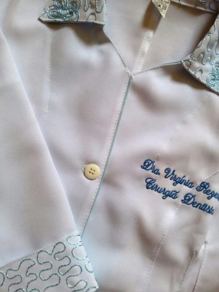 Jaleco Sombreado Luxo  #labcoat #Uniforms #Fashion #Style #Nurse #Medical #Apparel #rendasetramas