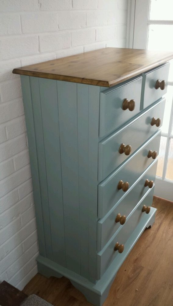 Painted Solid Pine Drawers Painting Furniturepine Bedroom