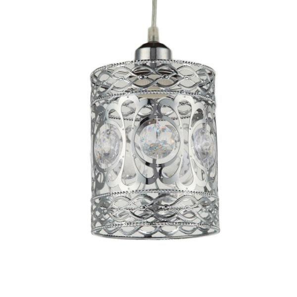 Silver Beaded Kasbah Lantern Lampshade