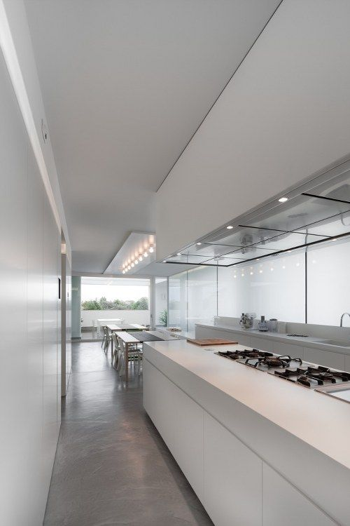 white kitchen, polished concrete floor. be mine.