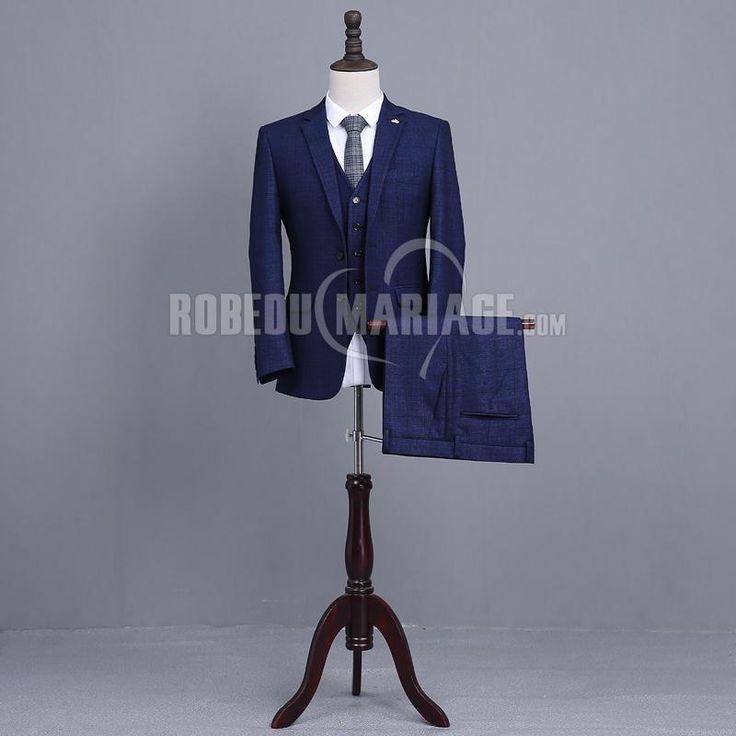Costume homme pas cher pour mariage y compris veste pantalon gilet cravate [#ROBE2013105] - robedumariage.com