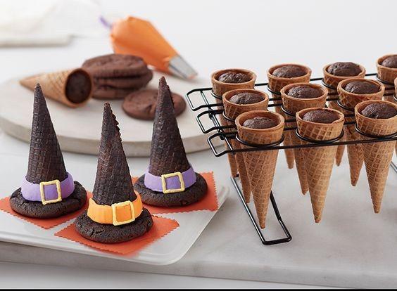 Chapeau sorcière cornet de glace Halloween