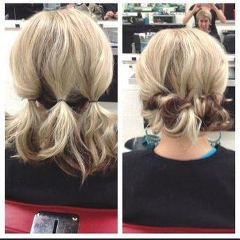 Hochsteckfrisuren Für Den Alltag Cute Hair Hair Short Hair