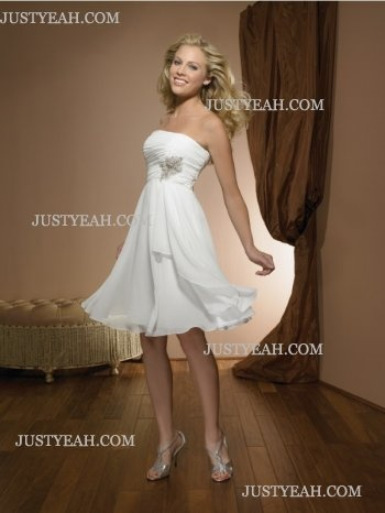 Good rehearsal dinner dress!!! - Galleggianti senza spalline Abiti da Sposa Corti