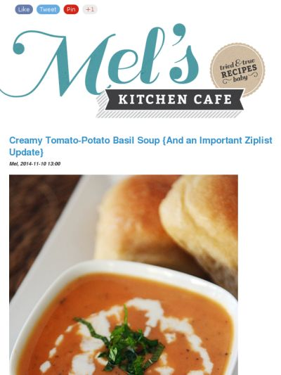 Mimi S Cafe Tomato Soup Recipe