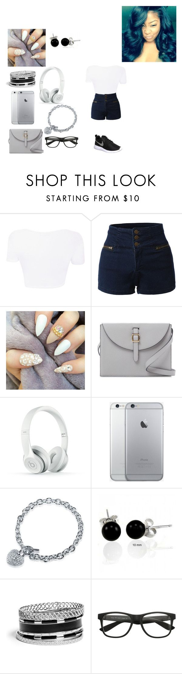 """""""white"""" by pretty-on-fleak ❤ liked on Polyvore featuring LE3NO, Meli Melo, Beats by Dr. Dre, BERRICLE, Bling Jewelry, GUESS and NIKE"""