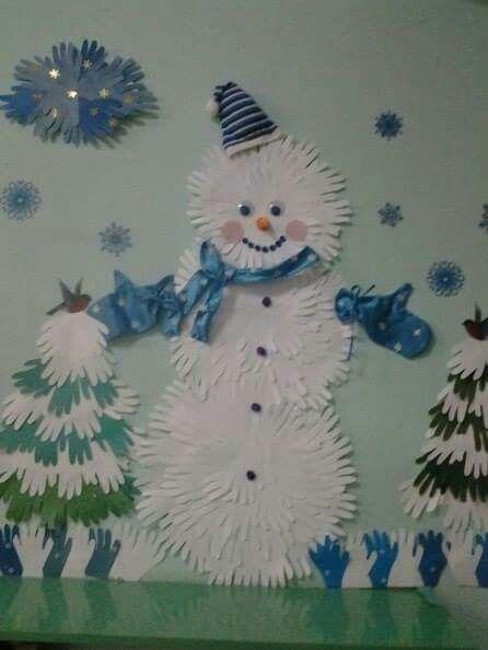 Sněhulák z rukou