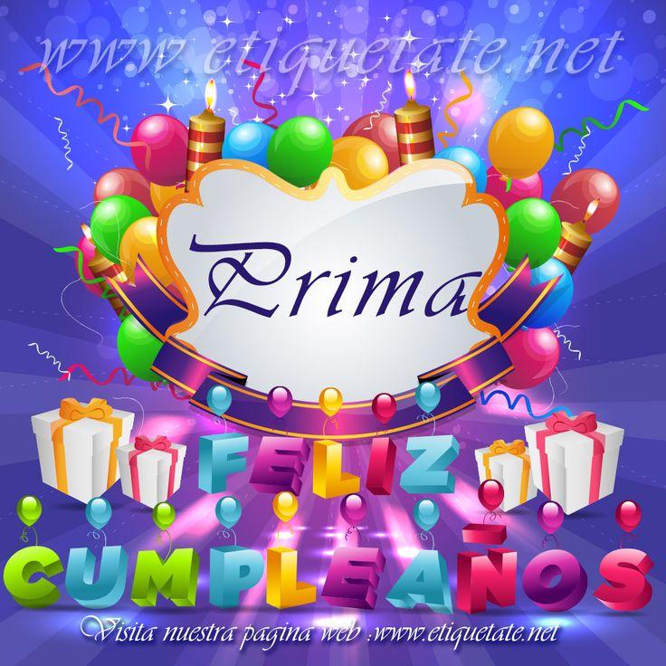Felicitaciones De Cumpleaños Parauna Prima
