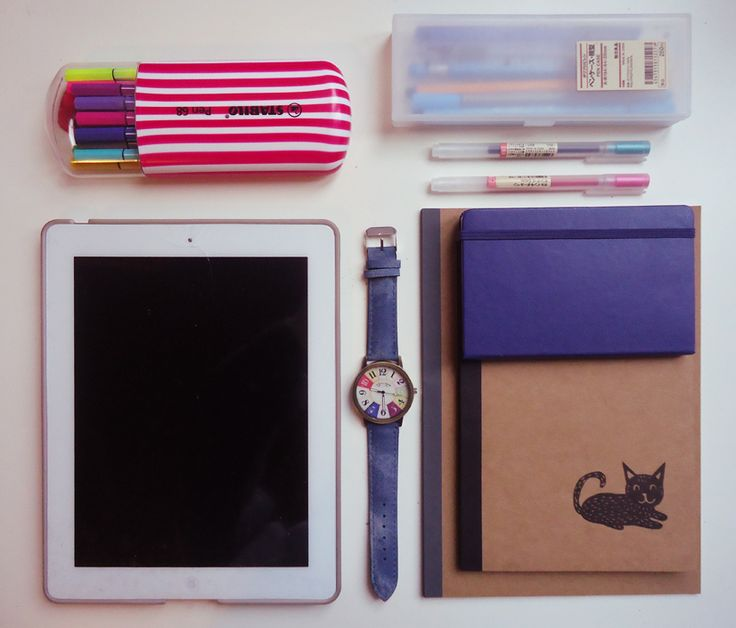 medschoolinspo:  [1/100 - Starting my 100 days of productivity journey, hope I can do it!]New stuff for 2016 studying: (from left to right)- Stabilo Pen 68 Pack of 20- Old iPad but new white screen (I broke the old black one so I decided to renew it)- No-brand watch- Pen case and gel pens (in pink and green) by Muji- Moleskine Weekly Planner- Cat notebook with plain paper by Tiger (can't find it online sorry!)- B5 notebook with lined paper (pack of 5) by Muji