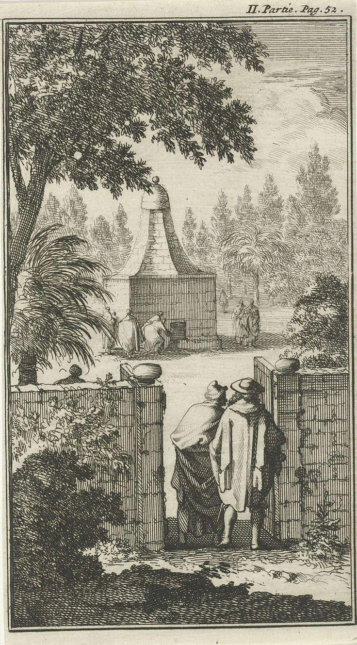 Jan Luyken   Graftombe van de Heilige George, de poortwachter te Damascus, Jan Luyken, Charles Angot, 1689   Prent rechtsboven gemerkt: II. Partie Pag. 52.