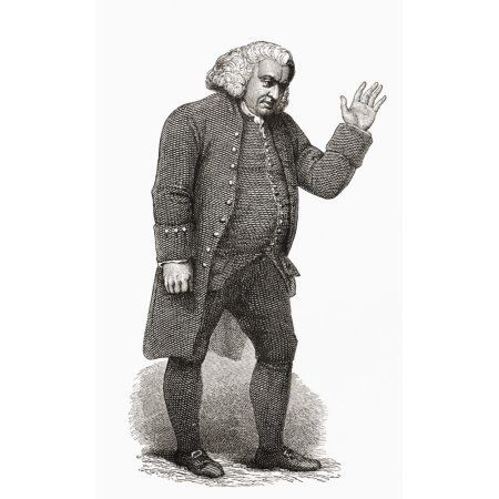 Samuel Johnson 1709 To 1784 English Author Poet Essayist Moralist Literary Critic Biographer Editor And Lexicographer From The Book Short History Of The English People By JR Green Published London 189