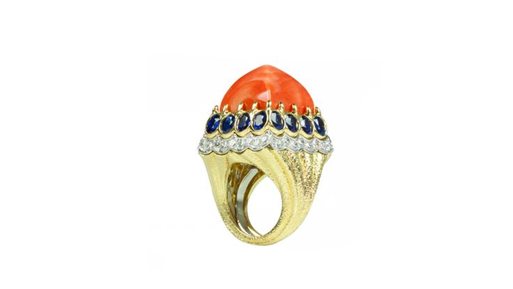 David Webb- coral ring- how beautifully these materials come together