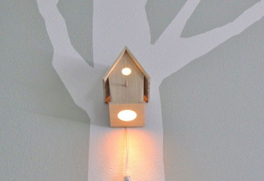 Bird House Night Light by Modern Treetop Baby Illuminates Woodland Themed Nurseries birdhouse nightlight – Inhabitots