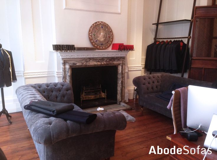As you can see we do a a lot of contract work in London. Cad & Dandy Tailors Saville Row is but only one of the stylish and unique places we have made furniture for | Abode Sofas