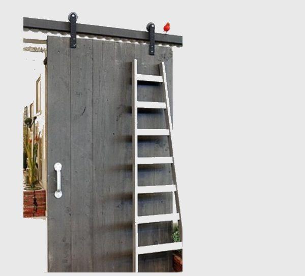 Schuifdeuridee badkamer: Klassieke ophangset 150 Kg Monoblack - voor deurbreedte max 103 cm