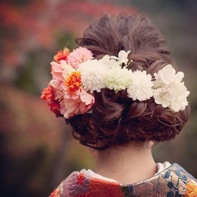 和装ヘアかわいすぎました♡♡♡ #ヘアスタイル #和装ヘア #和装ヘアアレンジ #花嫁ヘア #ヘアアレンジ #和装前撮り #前撮り