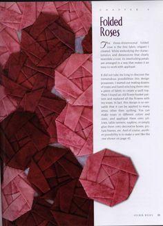 fabric folding origami diseños de flor