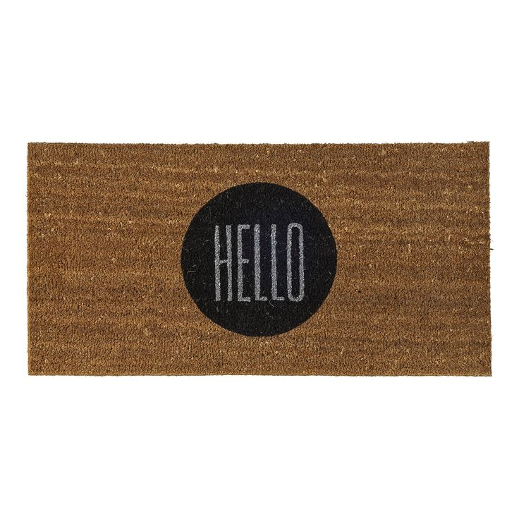Doormats needn't be boring!  This door mat will give your guests a great welcome every time.  This Scandinavian style comes from designers at Bloomingville and is instock now at Granite Lane.