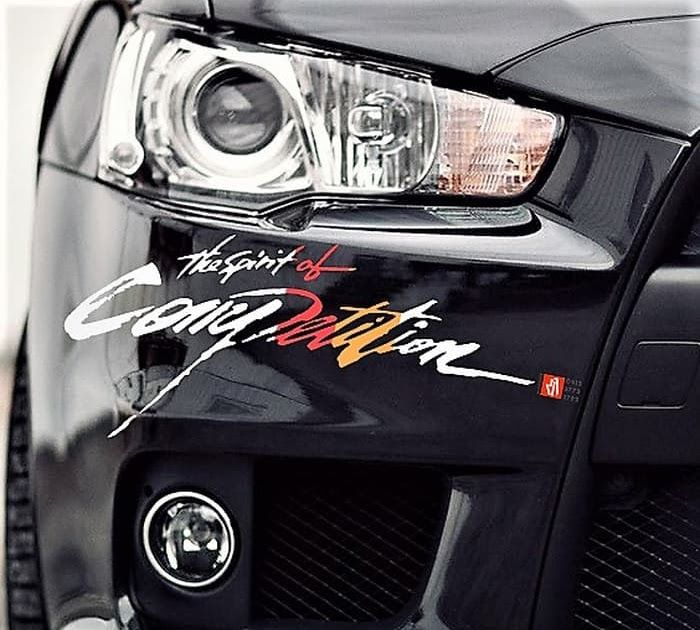 Paling Keren 29 Stiker Keren Untuk Mobil Jual Sticker Mobil The Spirit Of Competition Mitsubishi Stiker Keren 60cm Kota Band Mobil Mobil Keren Stiker Mobil