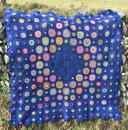 Ravelry: Sagittarius A Black Hole Crochet Blanket pattern by Amanda Perkins