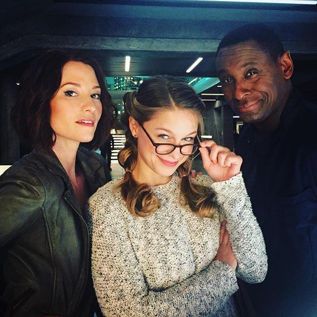 Hank's Angels. @supergirlcw @chy_leigh @melissabenoist @davidharewood #supergirl