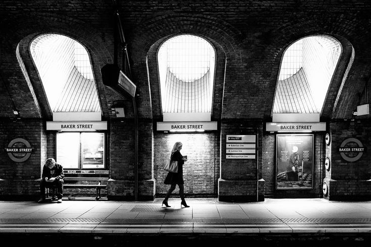 Baker Street Underground station. #london, #uk, 2016. Click for an original, limited edition, signed, fine art print on Hahnemühle high quality paper. #fineart #print #deco #photography #monochrome #urban #city #architecture #urbex #exploration #travel #pierrepichot
