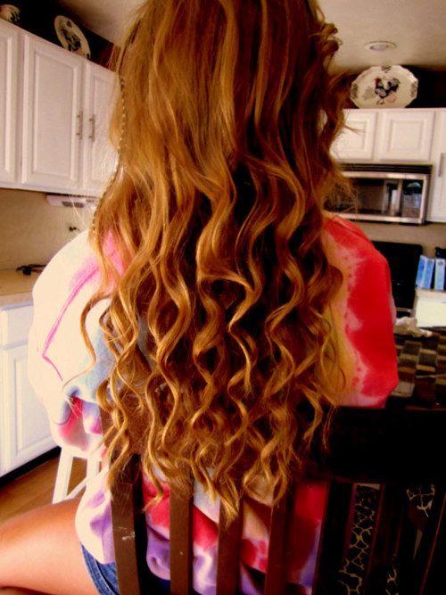 Wavy hairBeach Waves, Red Hair, Long Hair, Beautiful Hair, Hair Style, Curly Wavy Hair, Hair Color, Curly Hair, Long Wavy Hair