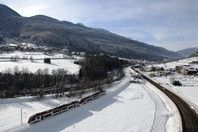 The Dolomiti Express train heading to the #ski slopes in #Italy #photo