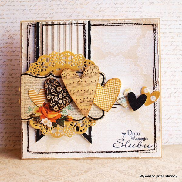 Card with hearts - Scrapbook.com