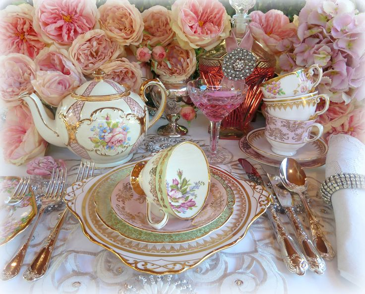 Elegant Tea Party Table Setting Vintage And Antique