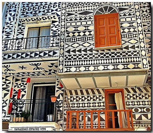 Cool!!! Pirgi Chios Greece..Famous for Xysta a medieval technic for wall decoration. by tolis*, via Flickr
