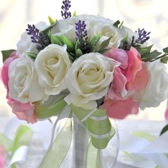 Walesbridal Романтический Роуз лаванды Цветы шелка Свадебные букеты     http://www.dinobuy.ru/product-1104209.html