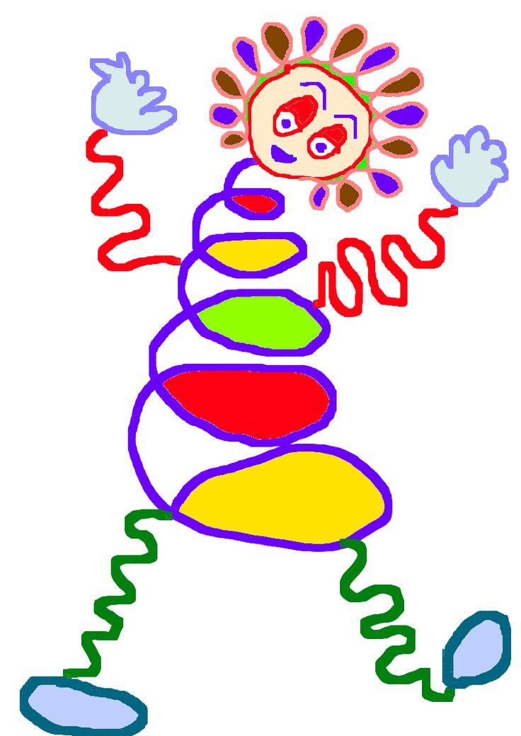 Reproduire Tournicotte personnage fait de boucles et lignes ondulées