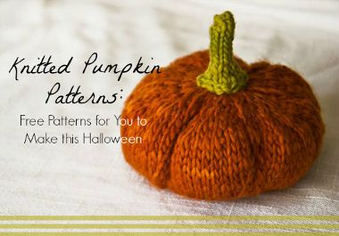 10 Knitted Pumpkin Patterns: Free Patterns for You to Make this Halloween   AllFreeKnitting.com