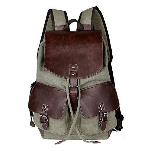 HongyuTing Canvas Vintage Unisex Backpack ,Notebook Rucksack ,Daypack