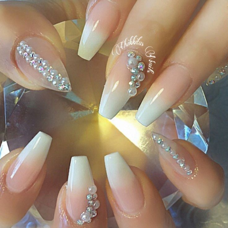 bling wedding nails ideas