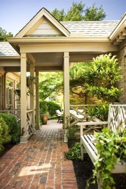 Breezeway porch inspiration pinterest for Breezeway connecting garage to house