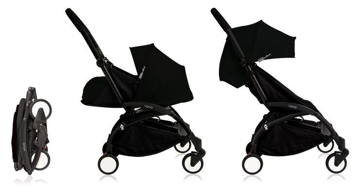 Nouvelle poussette Babyzen Yoyo Plus 0+ et 6+ Noir Châssis Noir 2016.