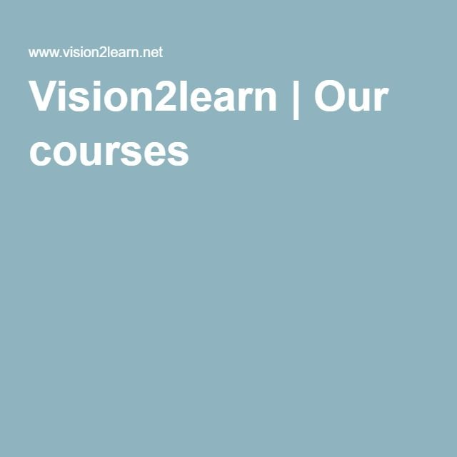 Vision2learn | Our courses