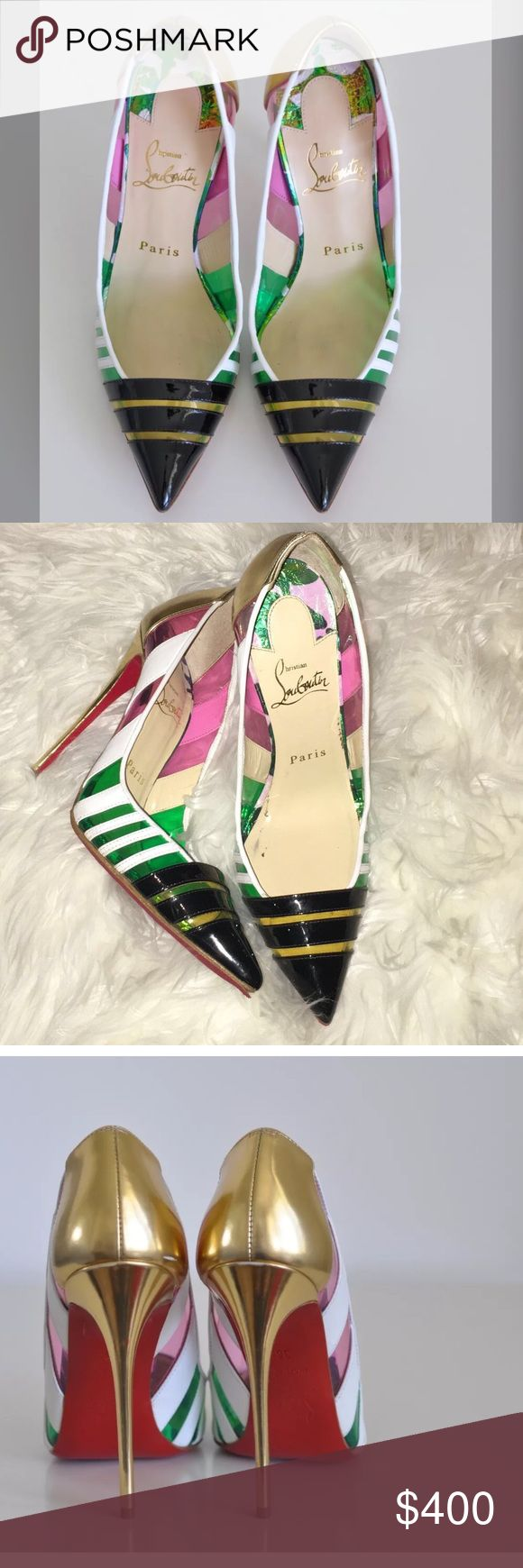Authentic Christian louboutin bandy heels These CL shoes are authentic.. the style name is Bandy.. I wore these shoes new.. looks like new..it does not come with a box but It does come with a dust bag Christian Louboutin Shoes Heels