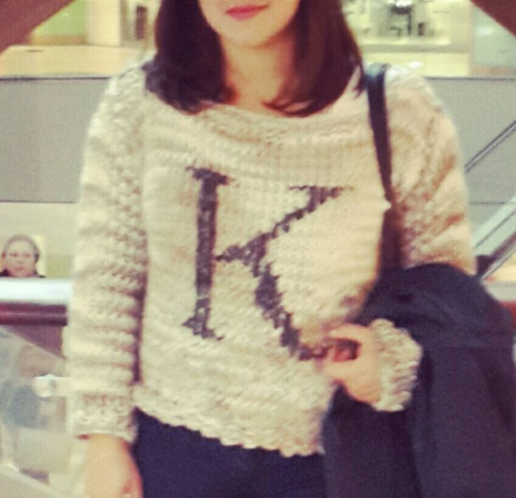 """""""K"""" chunky knitted Sweater"""
