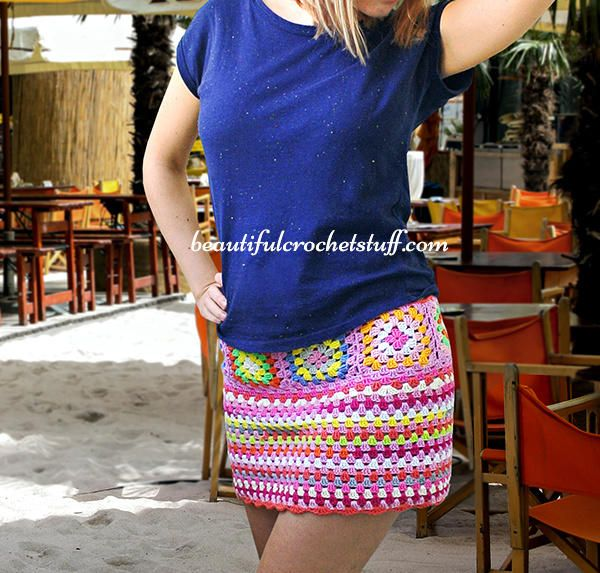 Crochet Skirt Free Pattern by janegreen