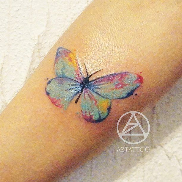 25+ Best Ideas About Watercolor Butterfly Tattoo On