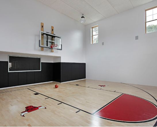 House plans with basketball court look at some private for Basketball gym designs and layout
