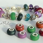 Perfect faux Pandora beads from clay & jump rings on Kolika's Blog
