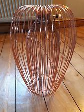 Contemporary Copper wire hanging ceiling light pendant chandelier shade