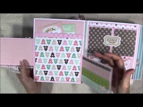 Baby Boy Mini Album and Part 1 Tutorial - YouTube