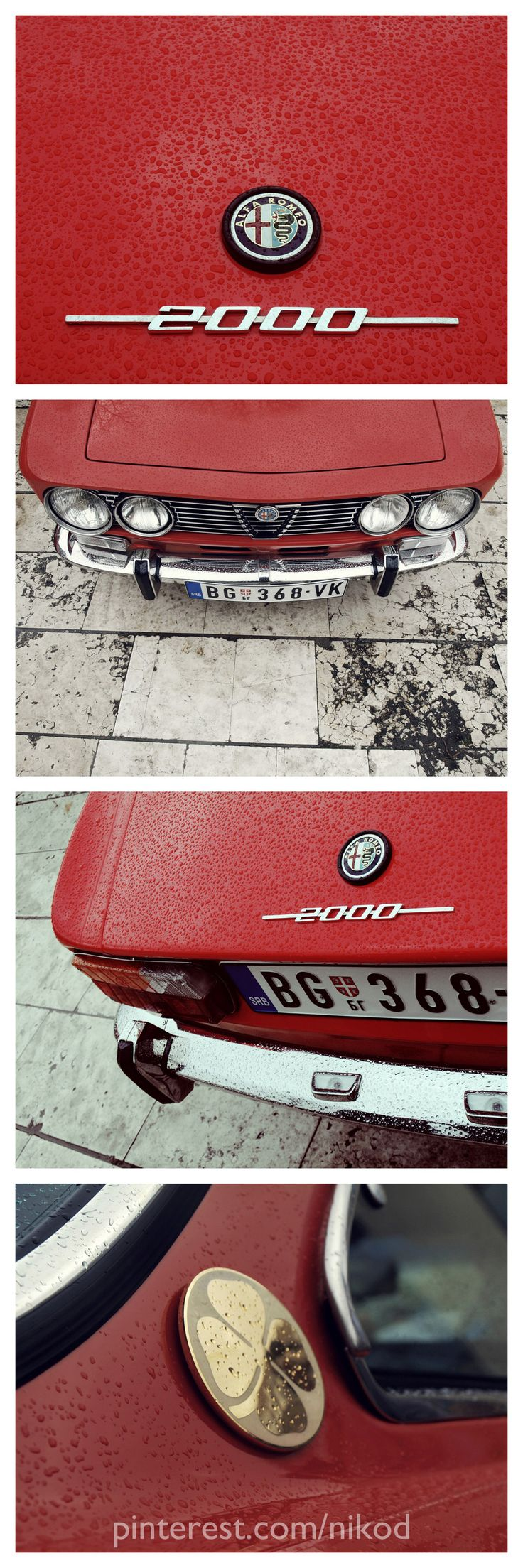 Alfa Romeo GTV 2000 Photos by: pinterest.com/nikod
