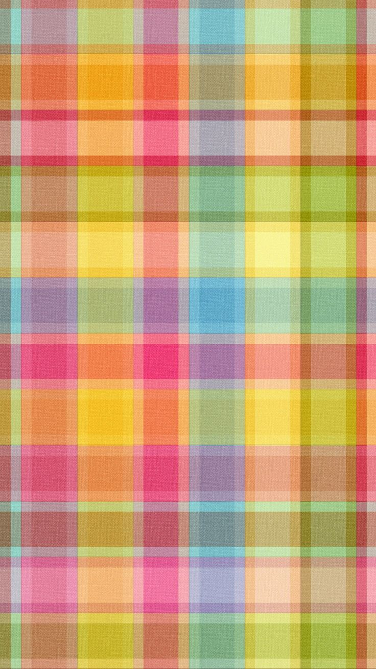 ↑↑TAP AND GET THE FREE APP! Pattern	Сolorful Plaid Multicolored Cool Stylish Simple Cute HD iPhone 6 Wallpaper